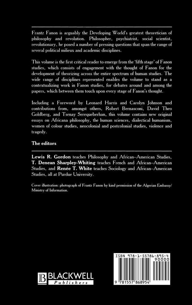 Fanon als Buch (gebunden)