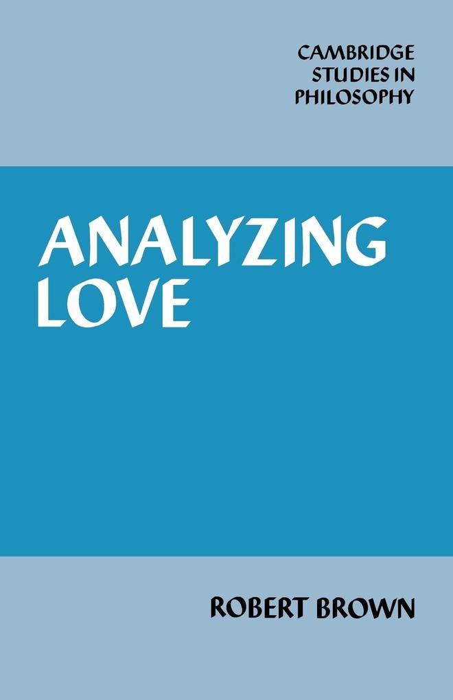 Analyzing Love als Taschenbuch