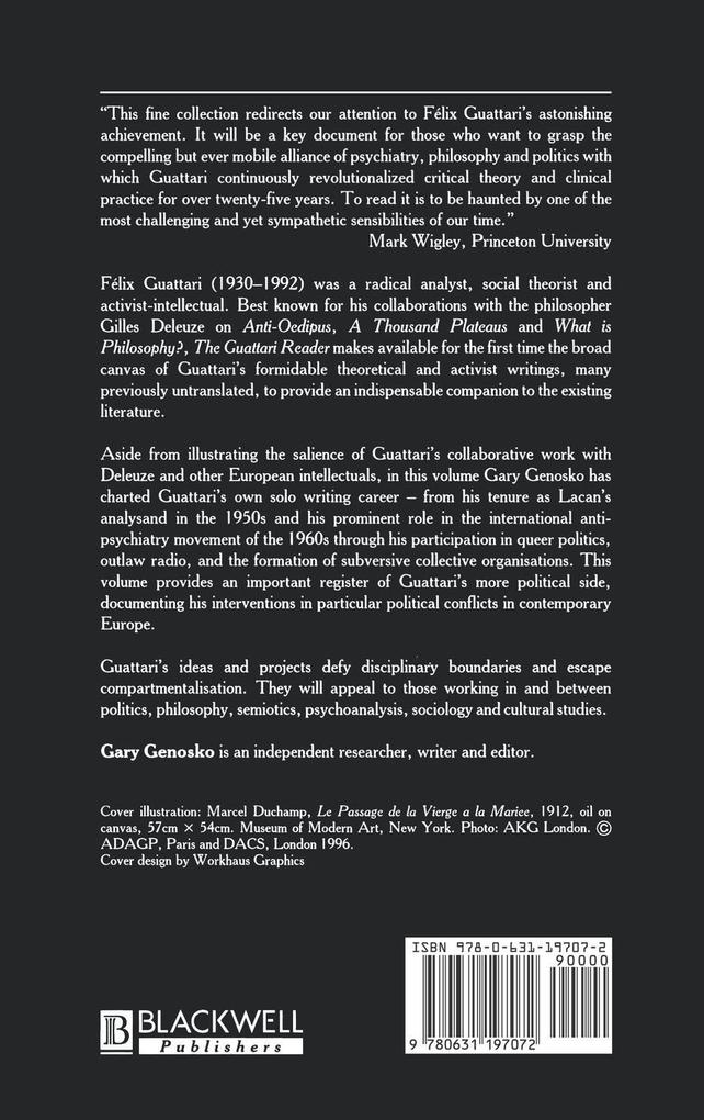 Guattari Reader als Buch (gebunden)