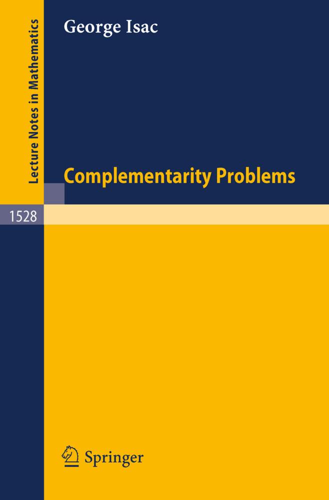 Complementarity Problems als Buch (kartoniert)