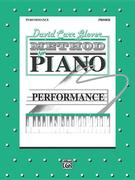 David Carr Glover Method for Piano Performance: Primer