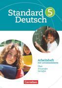Standard Deutsch 5. Schuljahr. Arbeitsheft mit Lösungen. Grundausgabe