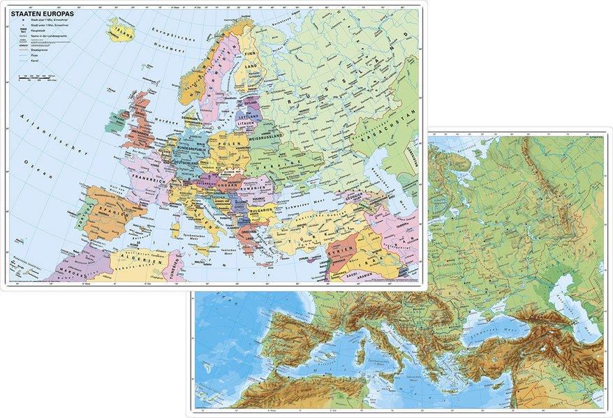 Europa physisch / politisch. DUO-Schreibunterlage als Sonstiger Artikel