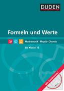 Formeln und Werte - Formelsammlung bis Klasse 10