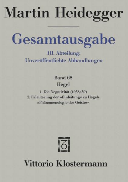 Gesamtausgabe 68. Hegel als Buch (gebunden)