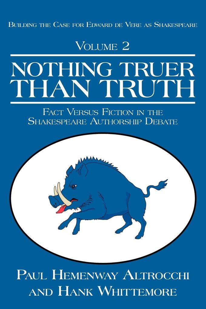 Nothing Truer Than Truth: Fact Versus Fiction in the Shakespeare Authorship Debate als Taschenbuch