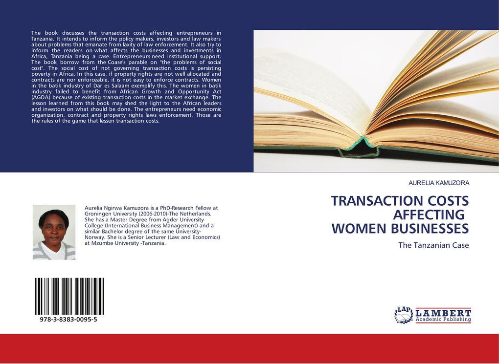 TRANSACTION COSTS AFFECTING WOMEN BUSINESSES als Buch (gebunden)
