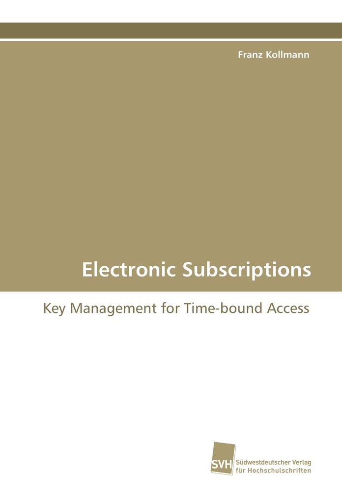 Electronic Subscriptions als Buch (gebunden)