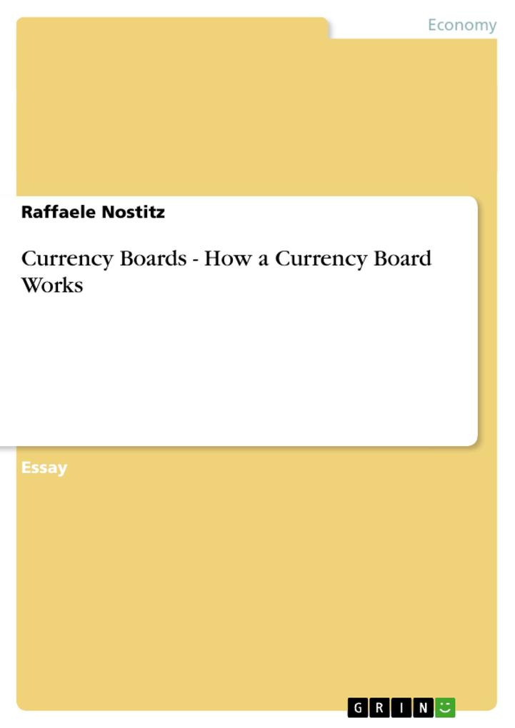 Currency Boards - How a Currency Board Works als Buch (geheftet)