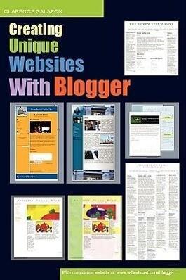 Creating Unique Websites With Blogger als Taschenbuch