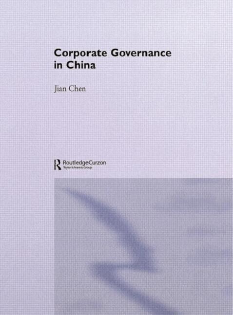 Corporate Governance in China als Taschenbuch