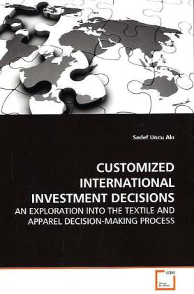 CUSTOMIZED INTERNATIONAL INVESTMENT DECISIONS als Buch (gebunden)