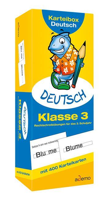 Karteibox Deutsch Klasse 3 als Blätter und Karten
