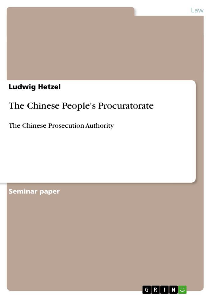 The Chinese People's Procuratorate als Buch (geheftet)