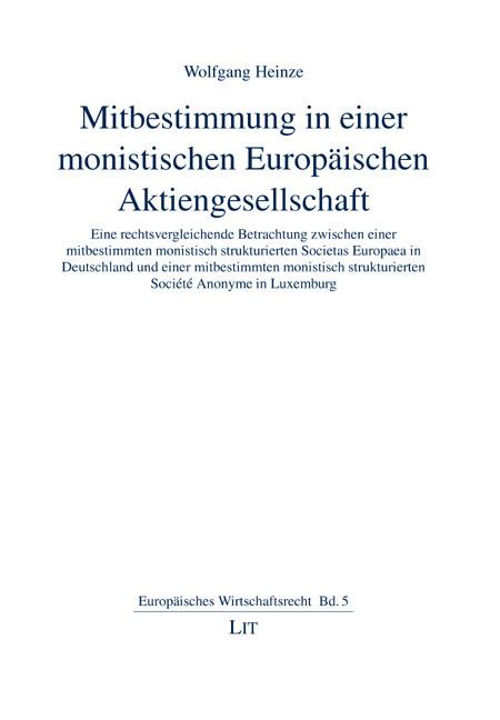 Mitbestimmung in einer monistischen Europäischen Aktiengesellschaft als Buch (gebunden)