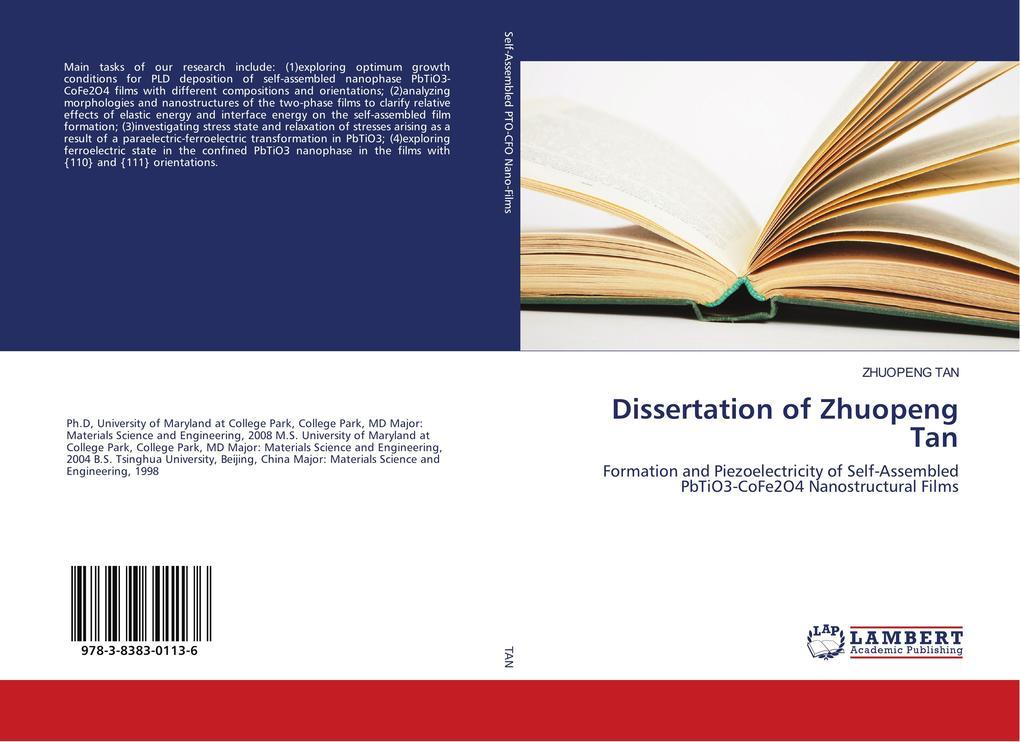 Dissertation of Zhuopeng Tan als Buch (kartoniert)