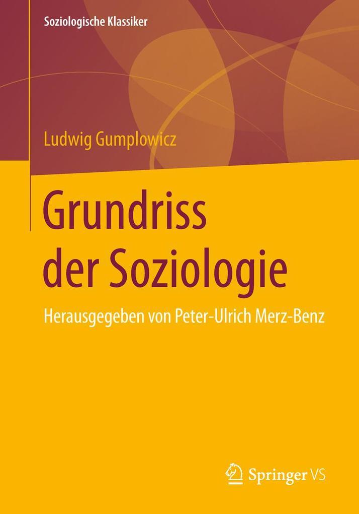Grundriss der Soziologie als Buch (gebunden)