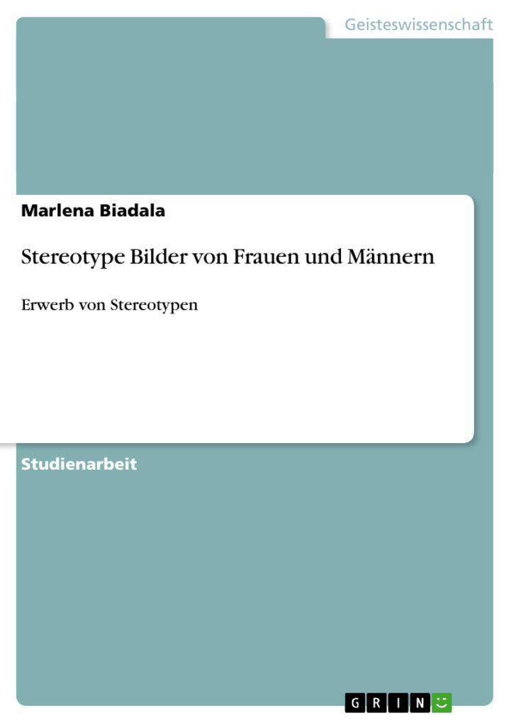 Stereotype Bilder von Frauen und Männern als Buch (gebunden)