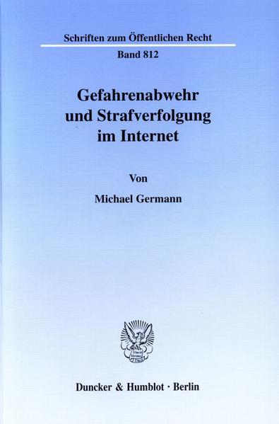 Gefahrenabwehr und Strafverfolgung im Internet. als Buch (kartoniert)