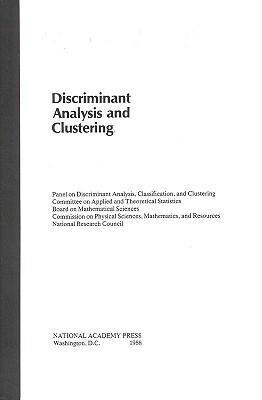 Discriminant Analysis and Clustering als Taschenbuch