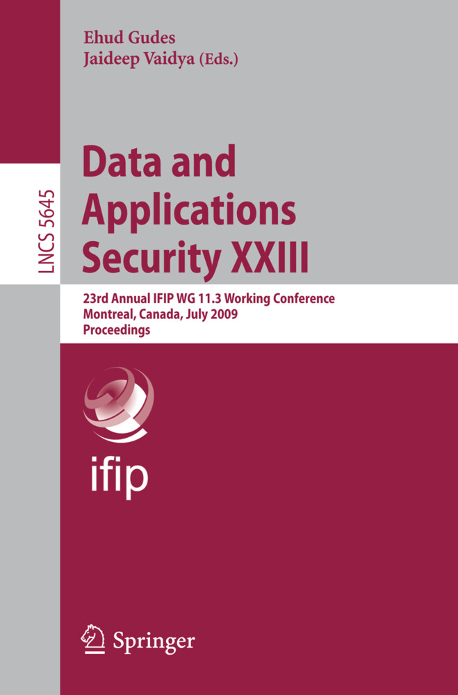 Data and Applications Security XXIII als Buch (kartoniert)