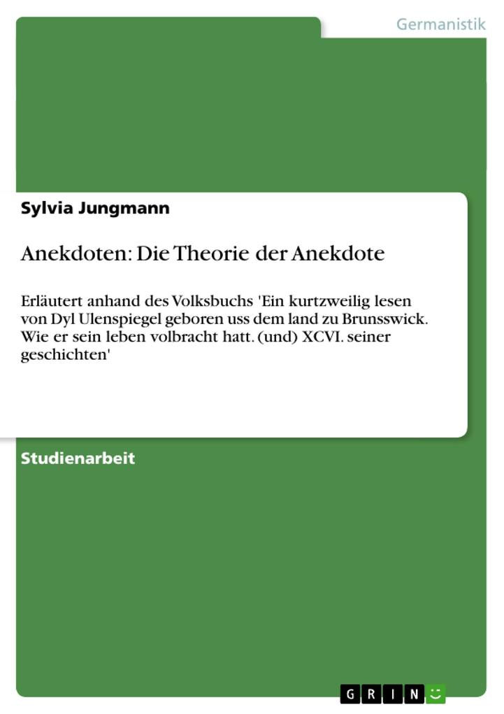 Anekdoten: Die Theorie der Anekdote als Buch (gebunden)