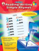 Reading/Writing Simple Rhymes, Grades 1-2: Simple Rhymes with One Spelling Pattern [With Transparency(s)]