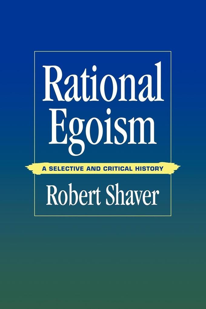 Rational Egoism als Taschenbuch