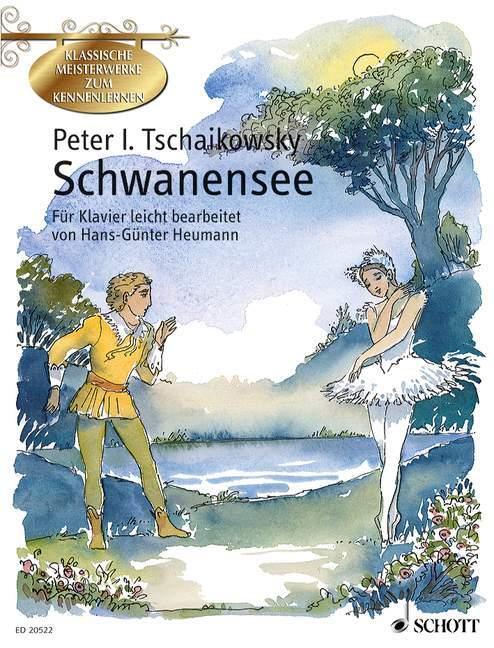 Schwanensee, leichte Bearbeitungen für Klavier als Blätter und Karten