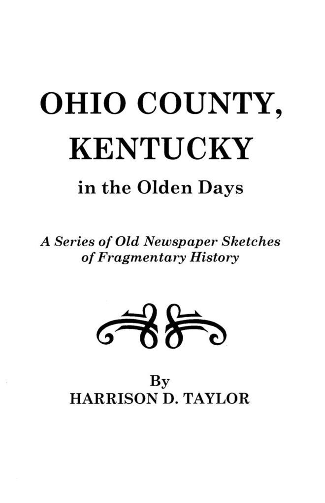 Ohio County, Kentucky, in the Olden Days als Taschenbuch
