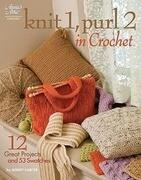 Knit 1, Purl 2 in Crochet