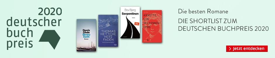 Deutscher Buchpreis 2020 - Shortlist und die Gewinnerin bei Hugendubel