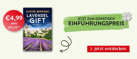 Zum Einführungspreis bei Hugendubel.de: Lavendel-Gift von Carine Bernard
