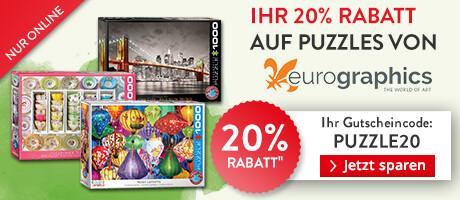 Ihr 20% Rabatt auf Puzzle von Eurographics!