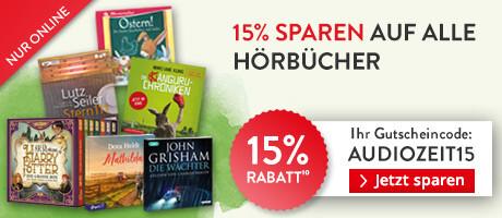 15% sparen auf alle Hörbuch CDs und Hörbuch Downloads bei Hugendubel