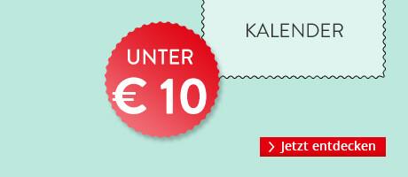 Kalender unter 10 EUR
