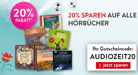 15% sparen auf alle Hörbuch CDs und Hörbuch Downloads bei Hugendube
