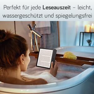 Perfekt für jede Leseauszeit - leicht, wassergeschützt und spiegelungsfrei