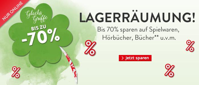 Lagerräumung: Bis zu 70% sparen!