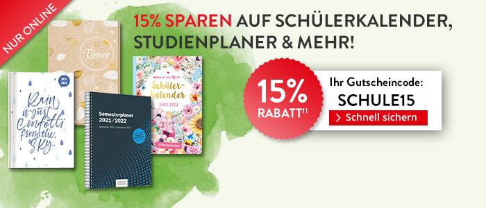 15% sparen auf Schülerkalender
