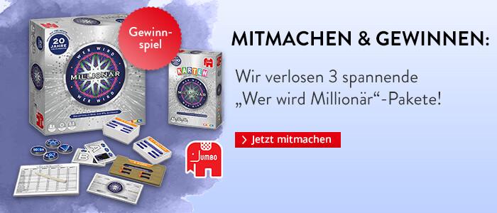 Gewinnen Sie Wer wird Millionär im Doppelpaket von Jumbo!