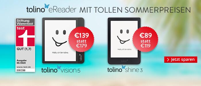 Jetzt sparen auf eReader tolino shine 3 und tolino vision 5