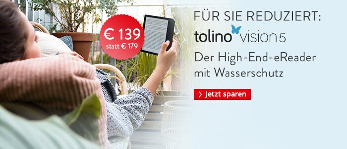eReader tolino vision 5 jetzt günstig sichern!