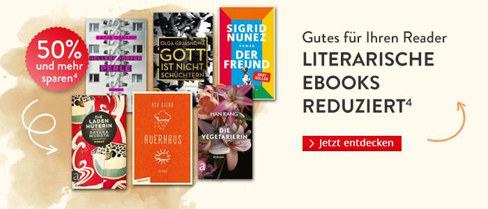 Gutes für Ihren Reader: Literarische eBooks reduziert bei Hugendubel