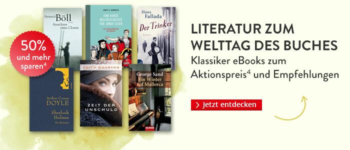 Klassiker zum Welttag des Buches: eBooks zum Aktionspreis und Empfehlungen bei Hugendubel