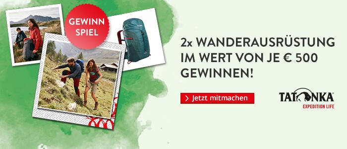 2x Wanderausrüstung im Wert von 500 Euro gewinnen