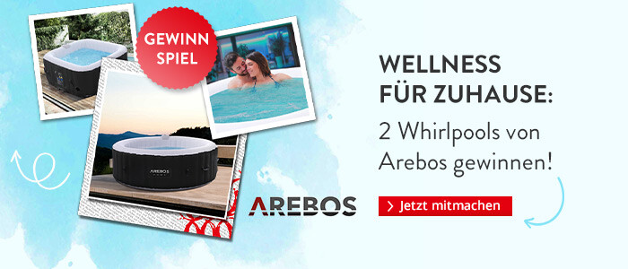 Zwei Whirlpools von Arebos gewinnen