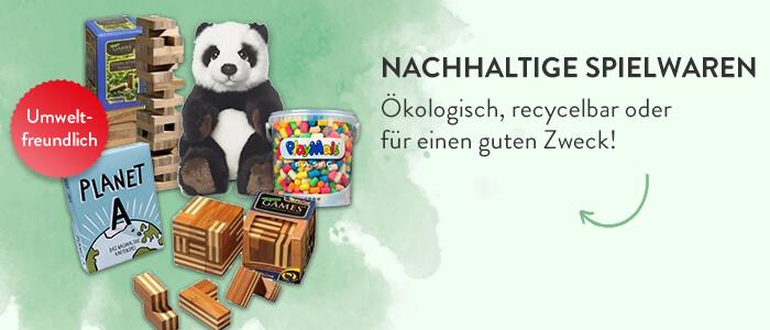 Nachhaltige Spiele - Ökologisch, recycelbar oder für einen guten Zweck!