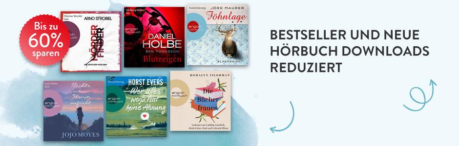 Bestseller und neue Hörbuch Downloads reduziert bei Hugendubel