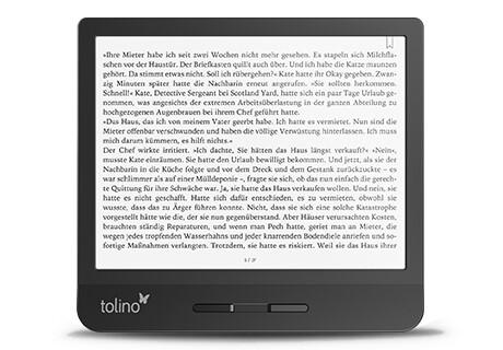 tolino vision 5: Intuitive Bedienung, handliches Design und großes Display